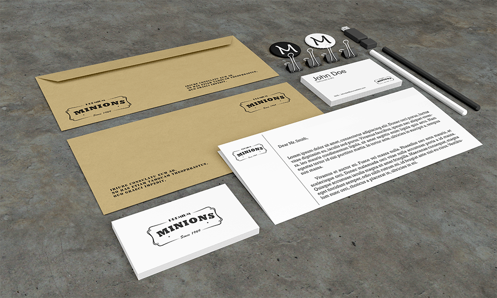 Free Perspective Stationery PSD Mockup