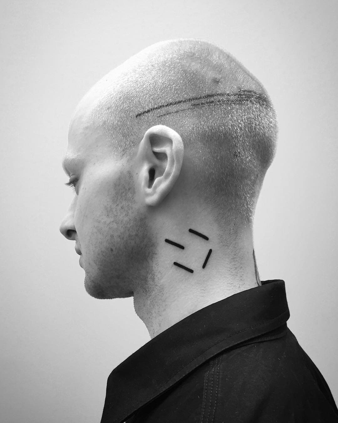 Minimal Neck Tatoo by Digimatism