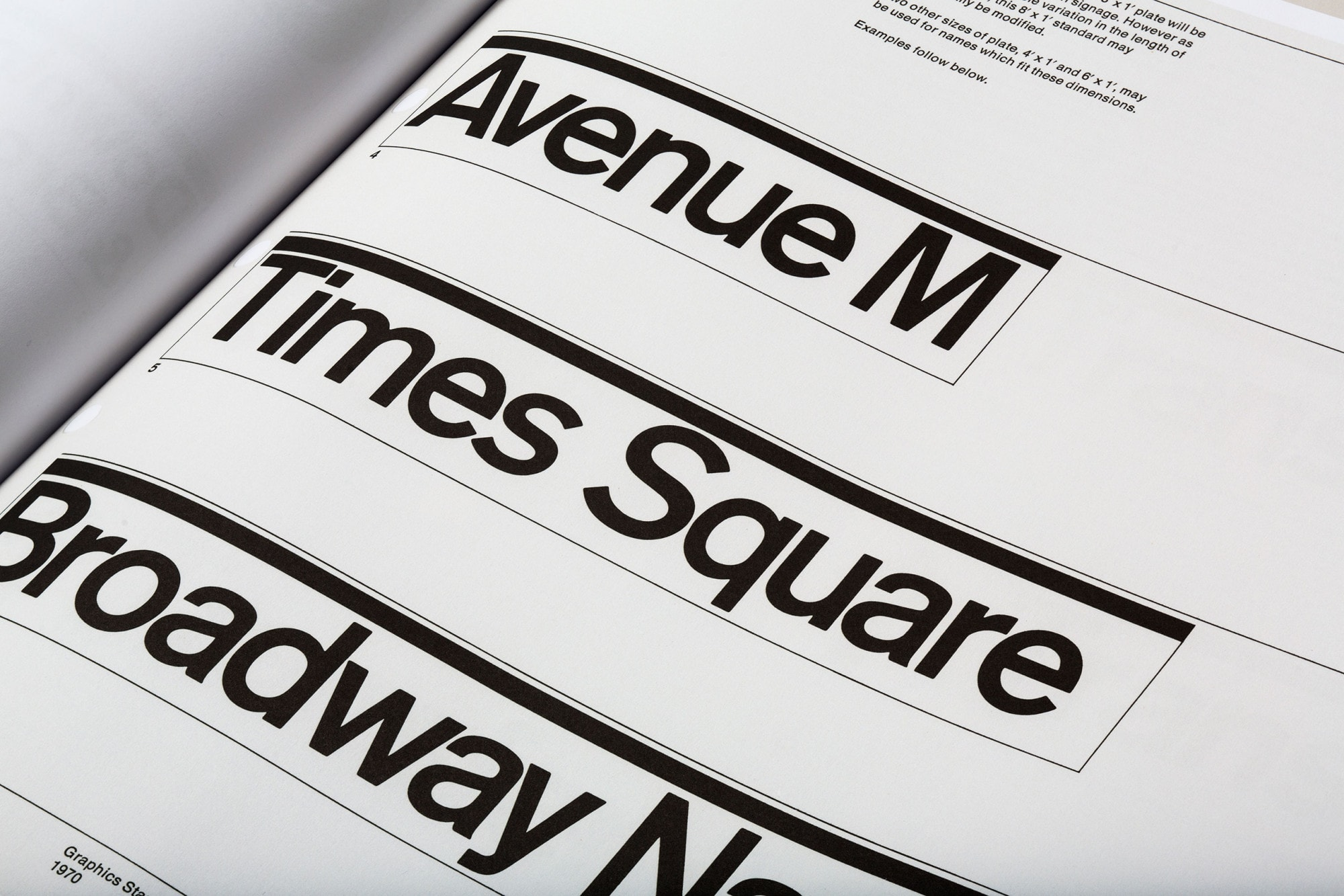 Graphics Standard Manual - New York City Transit Authority Typography