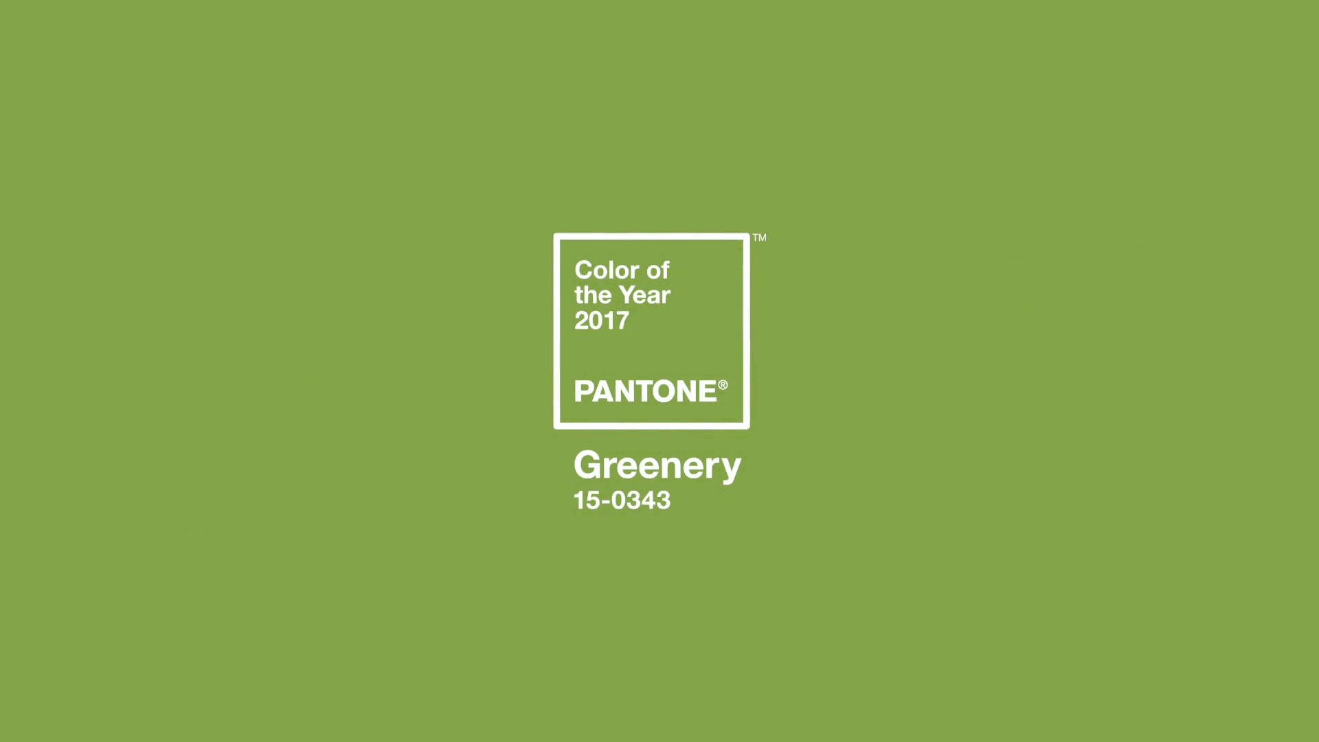 Color of The Year 2017 - Pantone Greenery