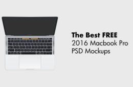Ücretsiz 2016 Macbook Pro PSD Mockups with Touch Bar