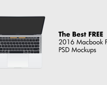 Free 2016 Macbook Pro PSD Mockups With Touch Bar