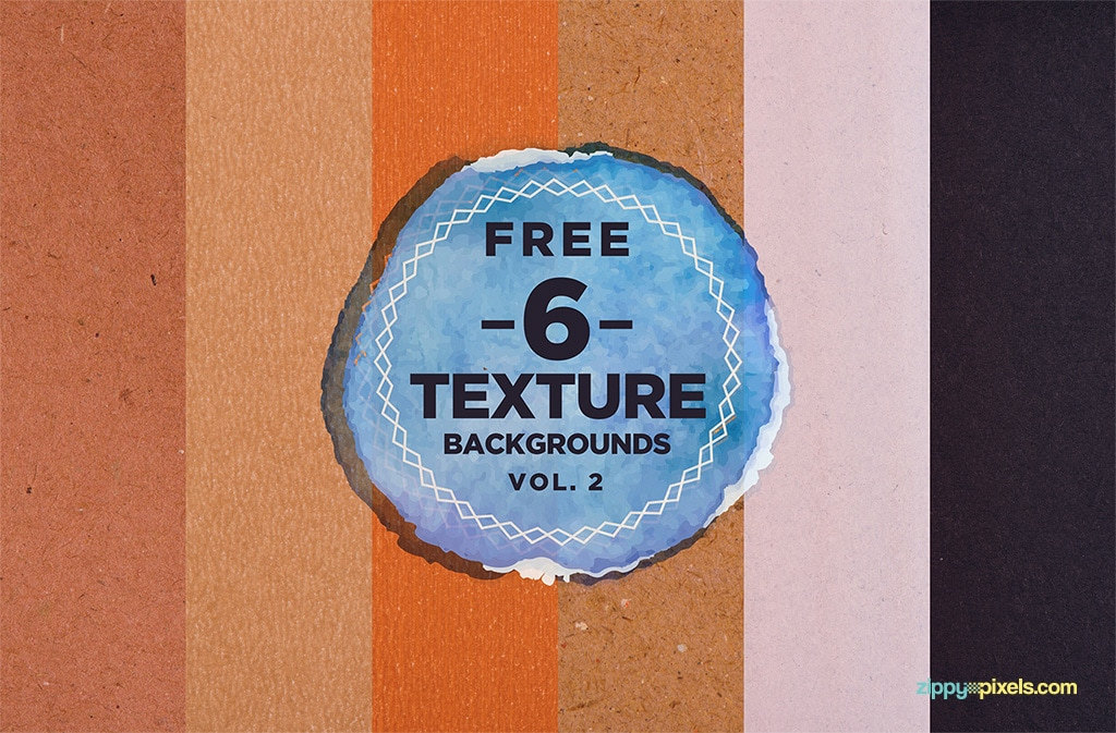 Six Free Paper Texture Backgrounds Pack