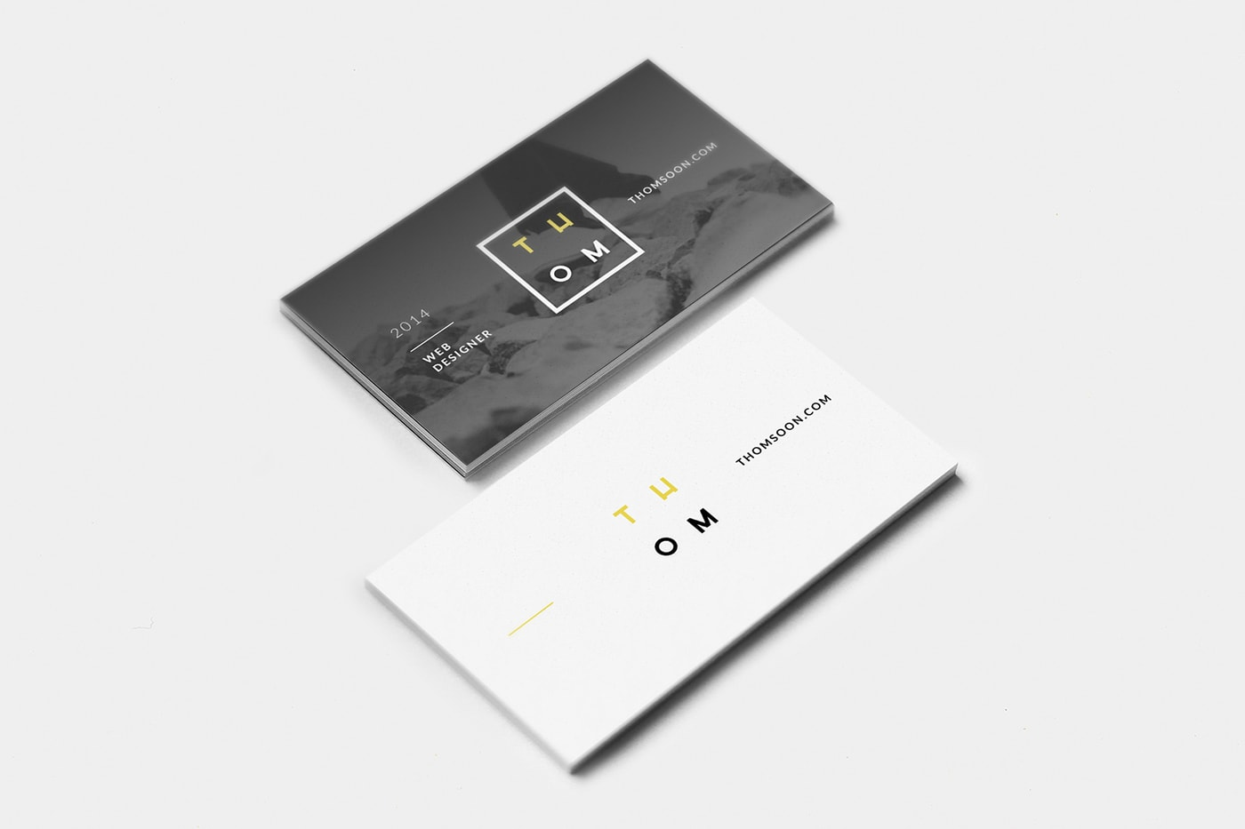 20 free unique business cards with free psd mockups hipsthetic 7 clean business card free mockup download magicingreecefo Gallery