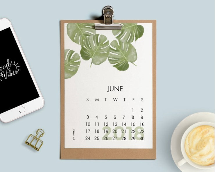 botanical-Printable-Calendar-2018