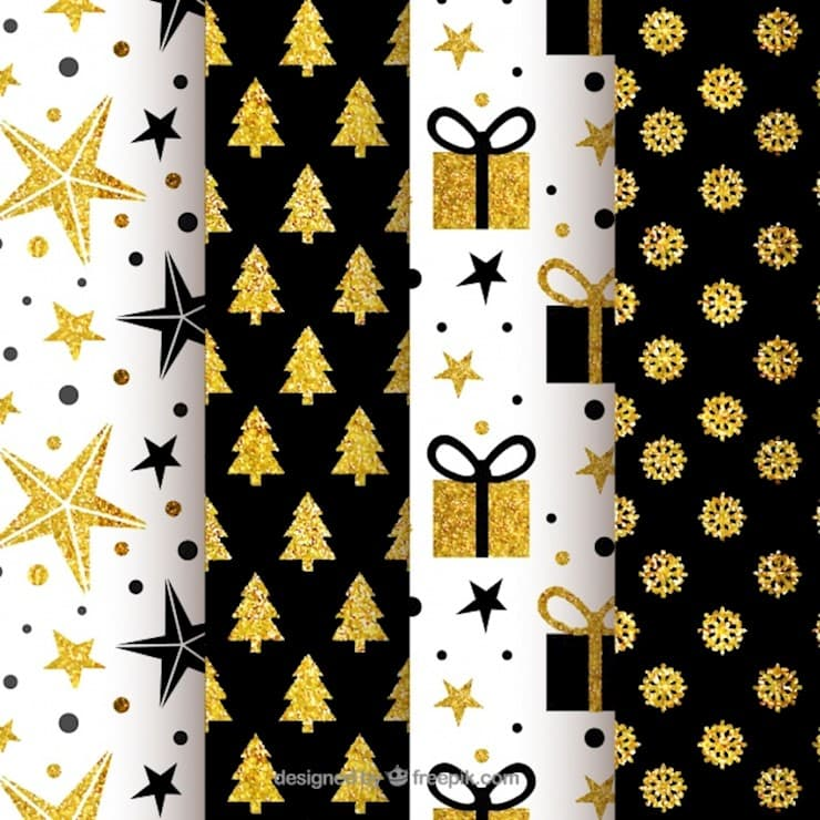collection-of-black-and-golden-christmas-patterns_23-2147715171