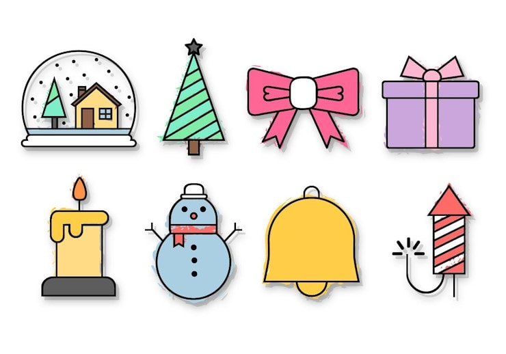 free-christmas-icons-vector