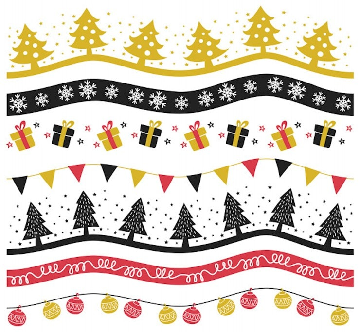 set-of-christmas-decoration-vector-illustration_6997-261