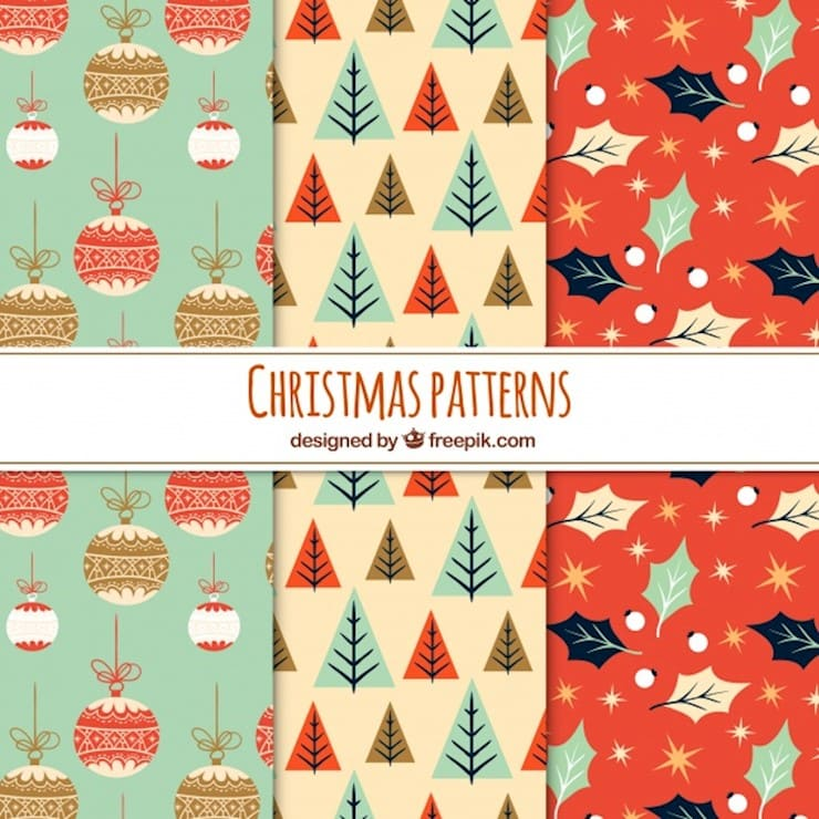 three-nice-christmas-patterns-in-vintage-style