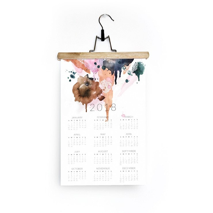 wall-calendar-2018-geometric-watercolor