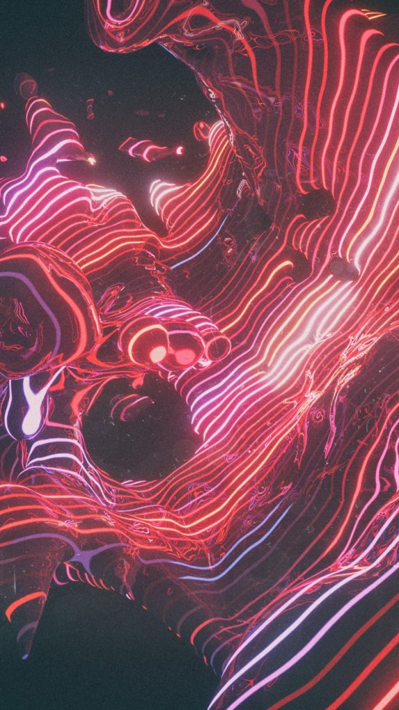 Abstract Neon Futuristic iPhone Wallpaper