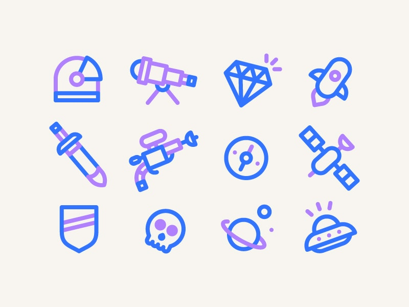 8+ Free Space Icon Sets