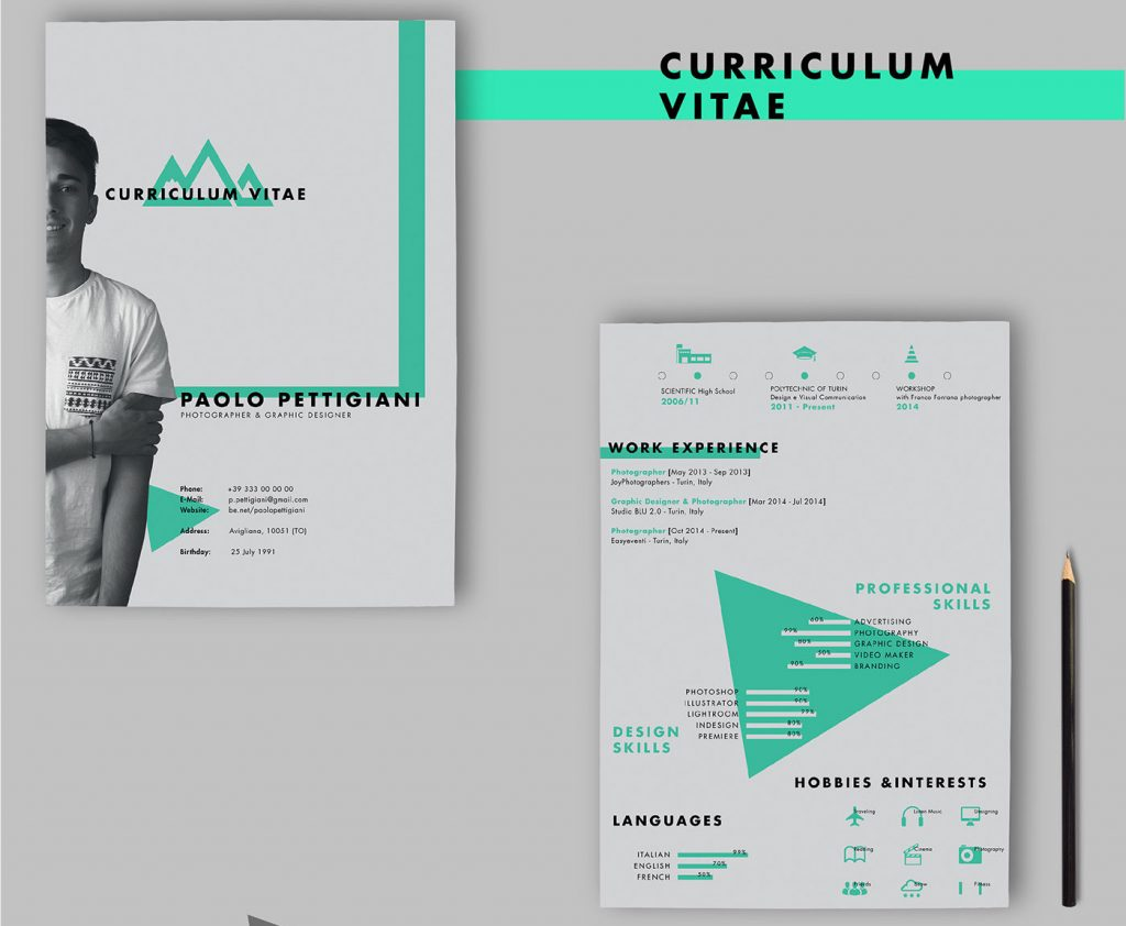 Free Self Promotion CV by Paolo Pettigiani