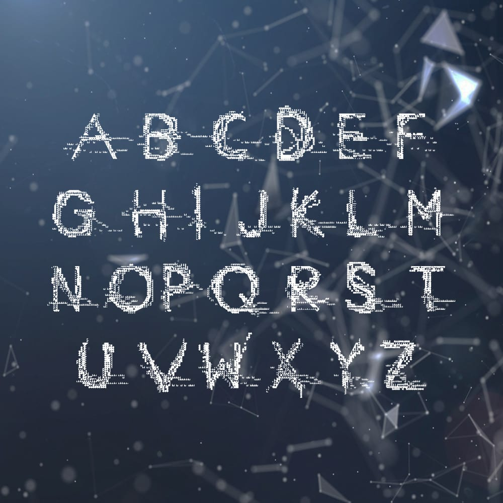 8 best free glitch fonts hipsthetic