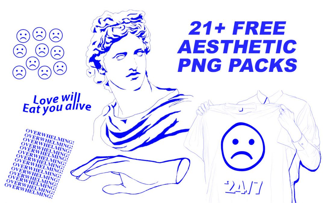21+ Free Aesthetic PNG packs
