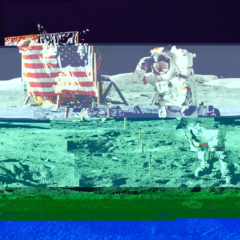 Astronaut glitchmap Glitch Images Online