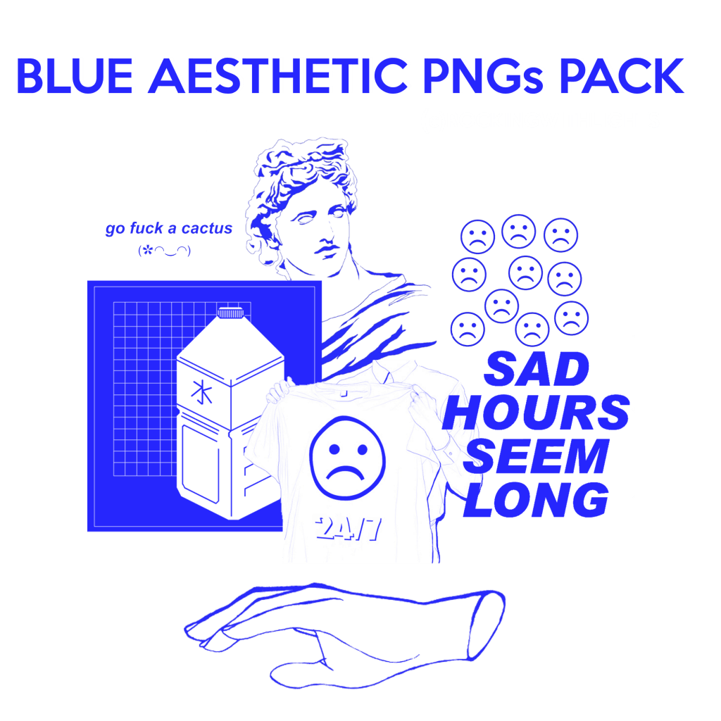 Blue Aesthetic PNG's