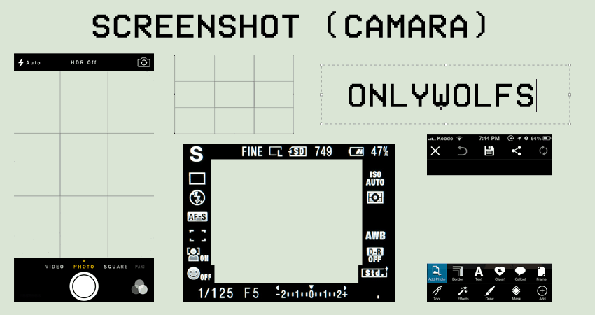 Camera Screenshot Frame PNG's
