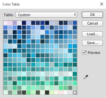 Colour Table Dialog Box Photoshop