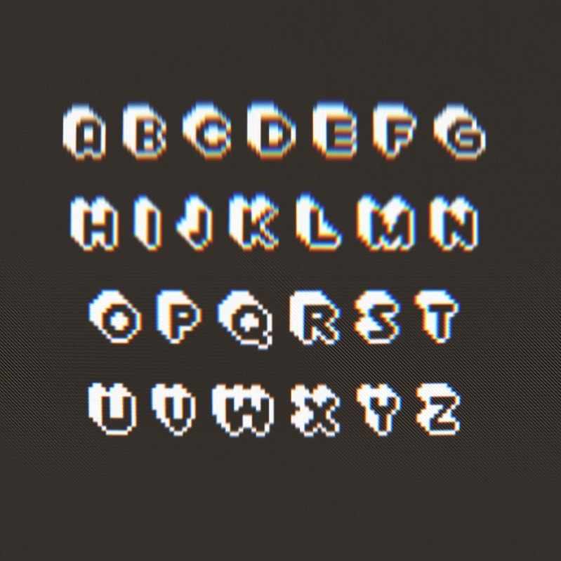Extrude Free Pixel Font Download