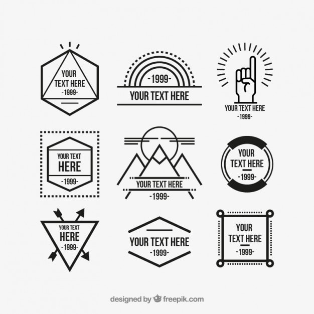 Free Geometric Hipster Logo Templates
