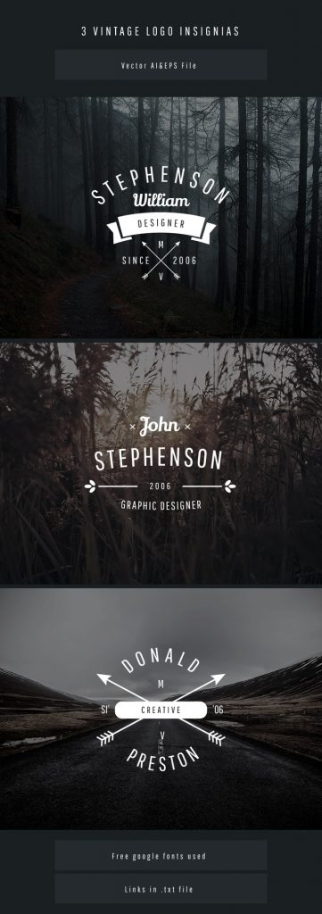 Graphberry Free Hipster Logo Templates