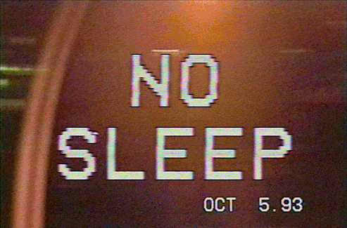 No Sleep VHS VCR Font