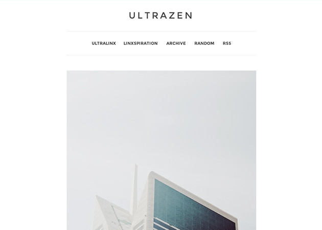 UltraZen Free Minimal Tumblr Theme