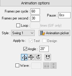 Xara 3D maker 7 Animated Text Options