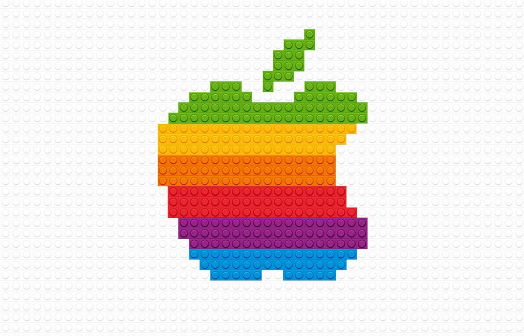 Retro Apple Logo Lego Edit