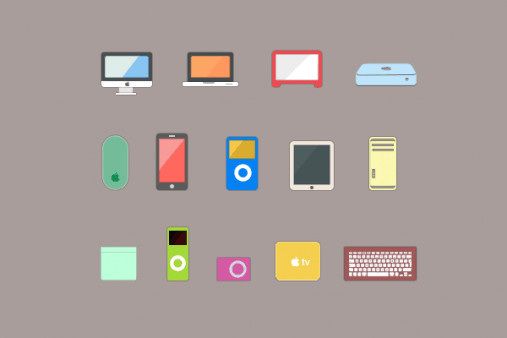 12 Free Flat Apple Product Vector Icons