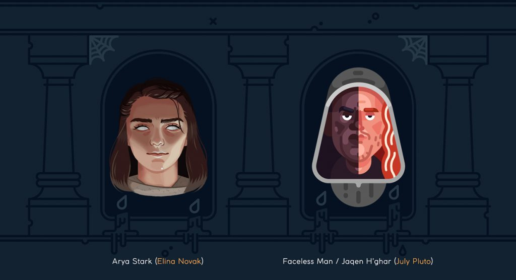 Arya and Faceless Man - Game of Thrones