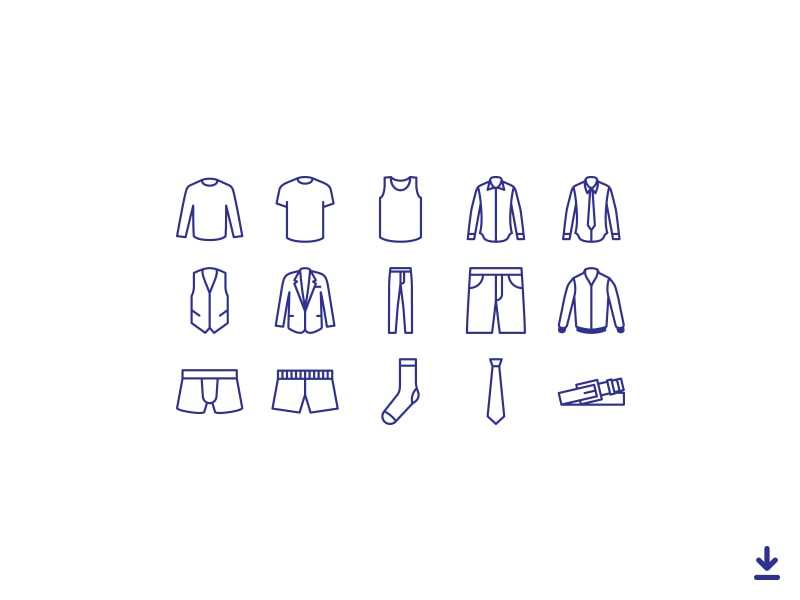 Clothing Vector Icon Set