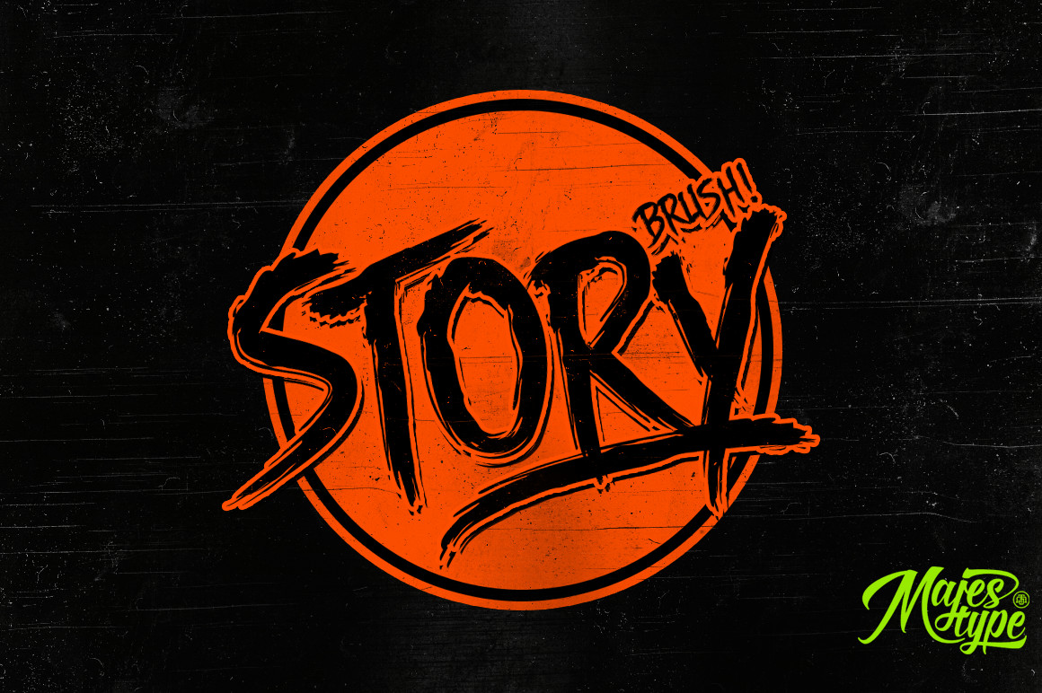 DHF Story Brush - Free Font