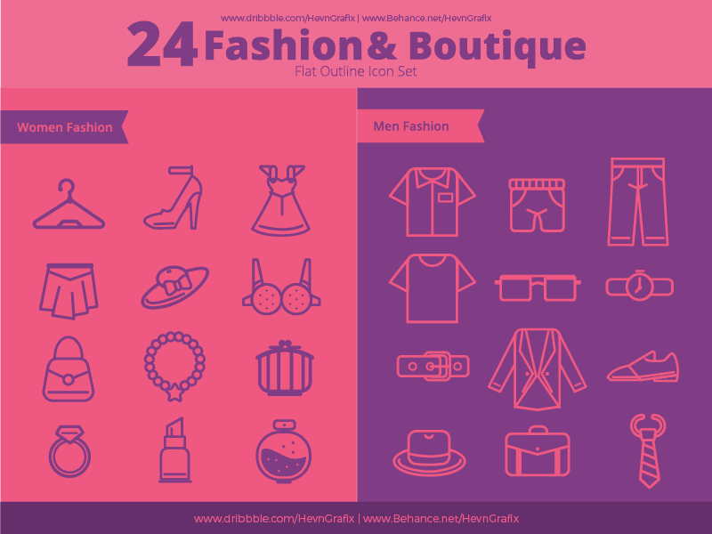 Free Fashion and Boutique Vector Icons