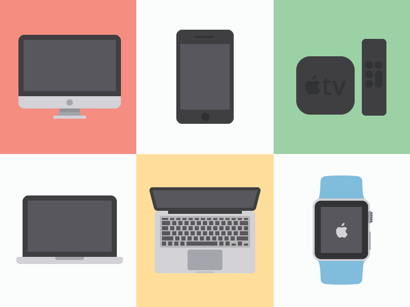 Free Flat Apple Vectors