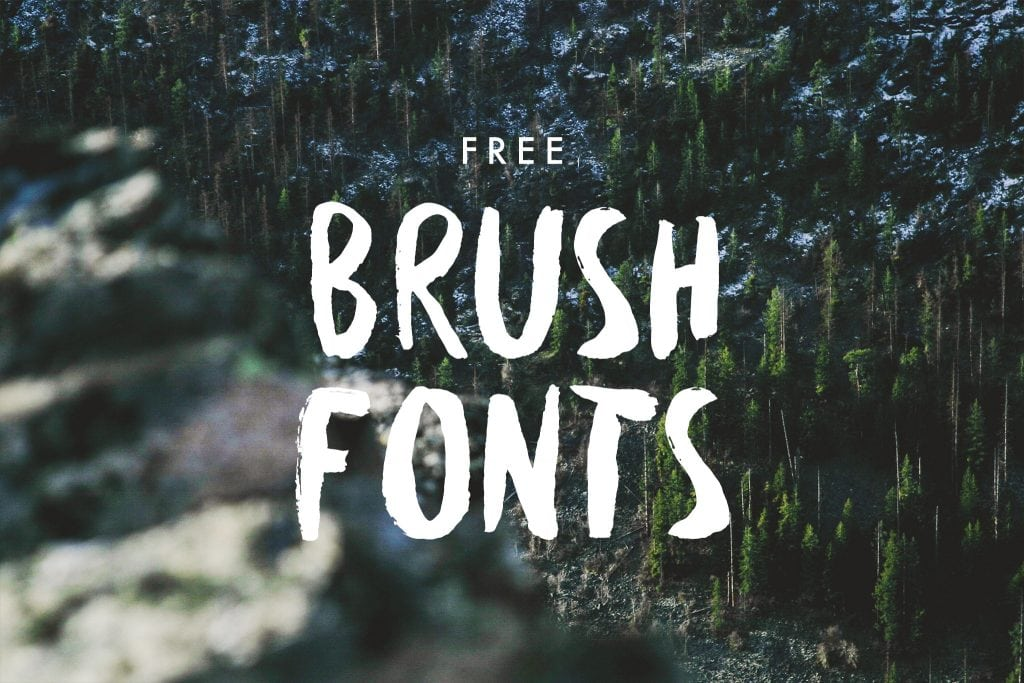 Free Brush Typefaces
