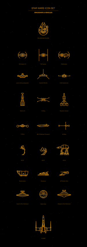 Free Vector Icon Pack - Star Wars