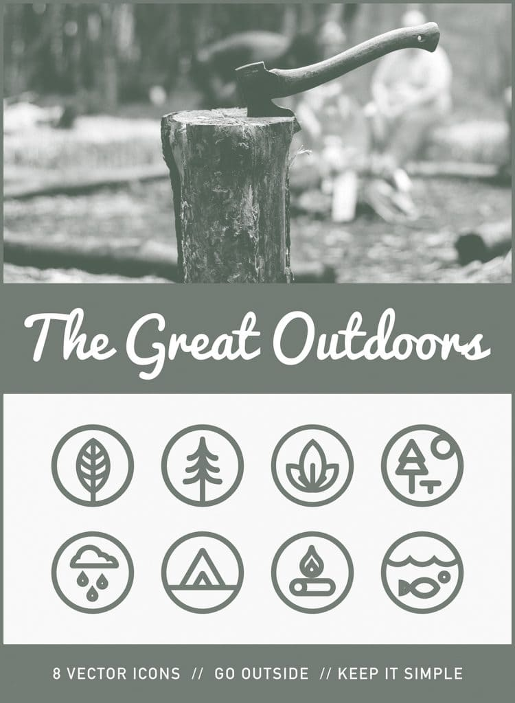 Free Vector Icon Set - The Great Outdoors