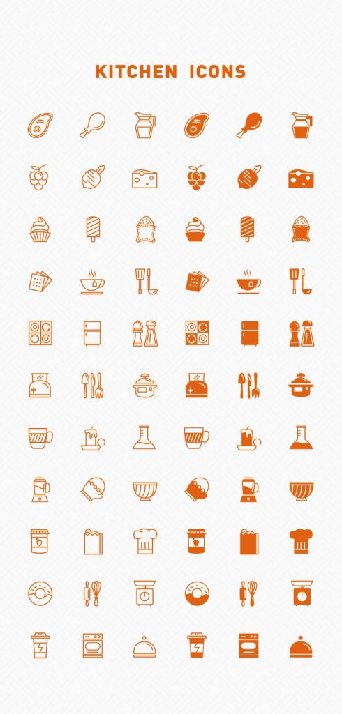 Free Line & Filled Kitchen Vector Icons