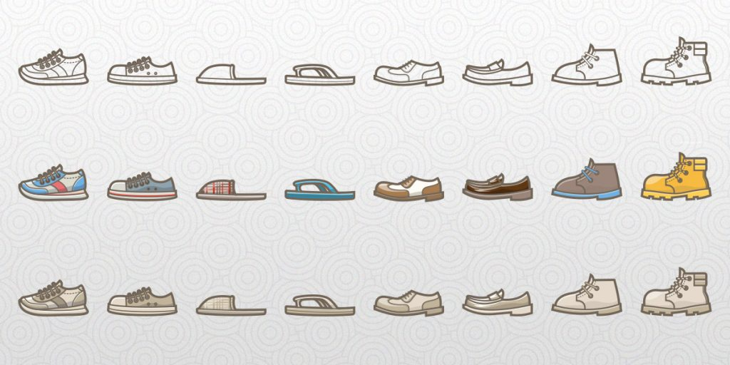 Free Vector Shoe Icons