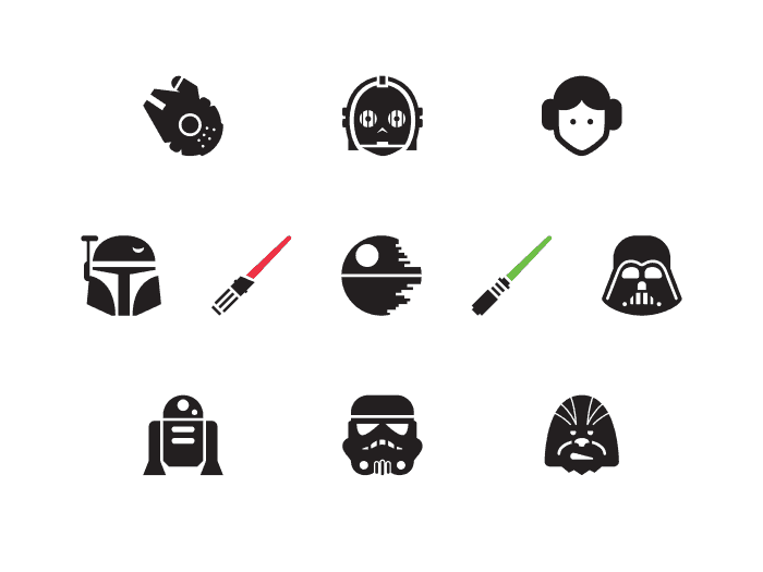 Top 10 Free Star Wars Vector Icon Sets Hipsthetic