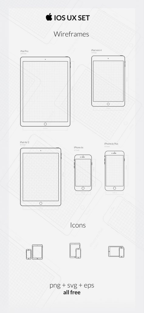 Free iOS UX SET (Wireframes & Vector Icons)