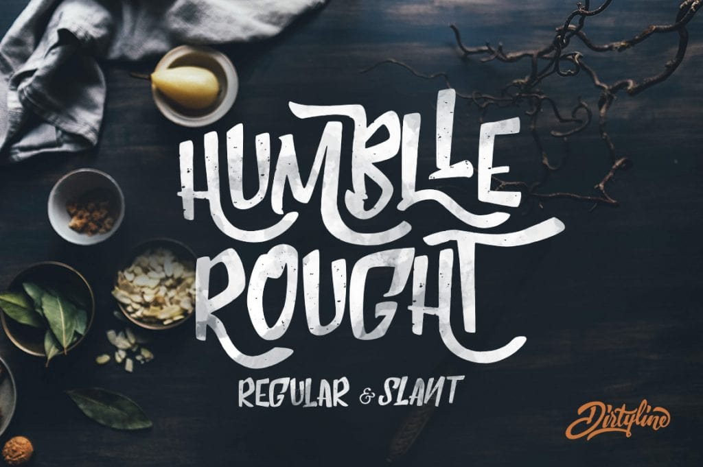 Humblle Rought - Free Handrawn Font
