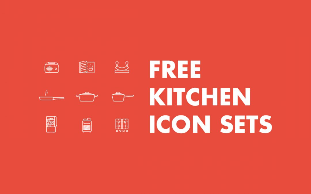 10+ Great FREE Kitchen And Cooking Vector Icon Sets