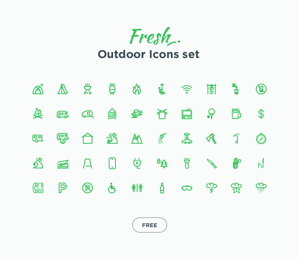 Free Outdoor Icons Set