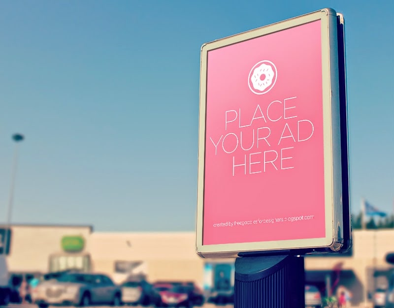 Free Outdoor PSD Poster Mockup