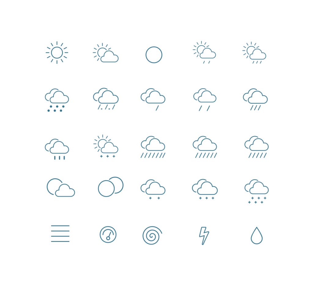 Outline Weather Vector Icons