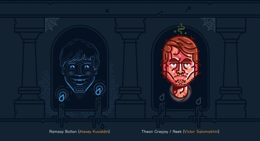 Ramsay and Theon - Game of Thrones