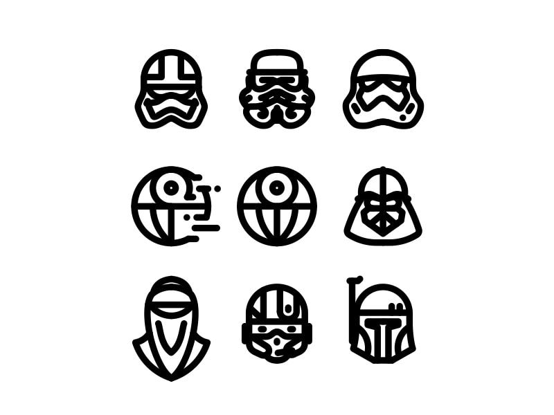 top 10 free star wars vector icon sets | hipsthetic